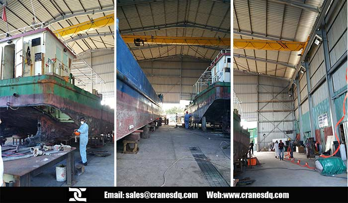 5 ton overhead crane installation in Maldives