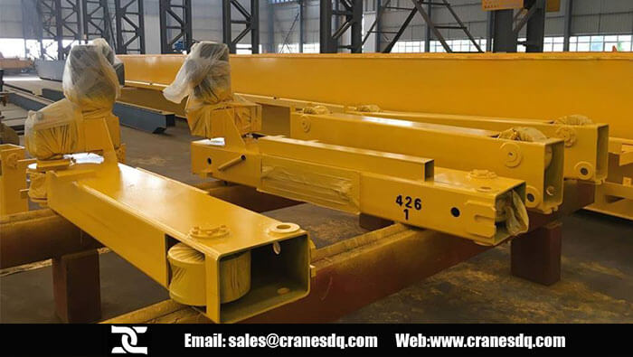 End carriage for 40 ton overhead crane