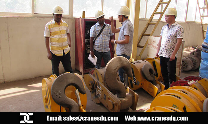 Overhead crane facory inpection by France customers