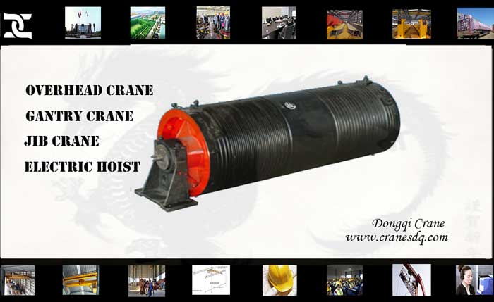 Crane rope drum for sturdy crane – Spare parts of DQCRANES