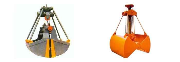 Grab bucket & crane bucket: clamshell grab, orange peel