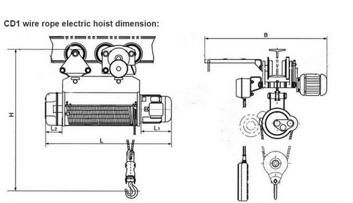 Electric wire rope hoist 0.5 to 32 ton for material handling ...