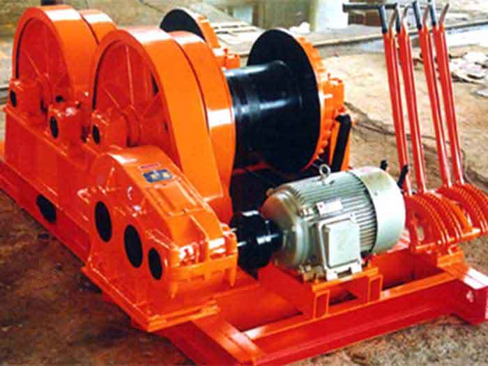 Double drum  electric winch for sale
