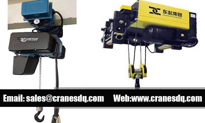 European electric hoist: European chain hoist & wire rope hoist