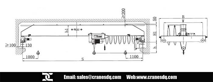 Single Girder Eot Crane Drawing : Single girder overhead crane with fem standard