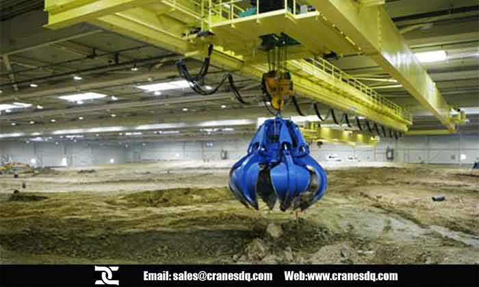 Industrial crane: Biomass crane for handling Waste, Slag, Sludge, Straw bale handling