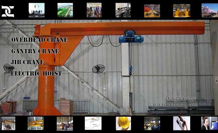Pillar jib crane for Singapore