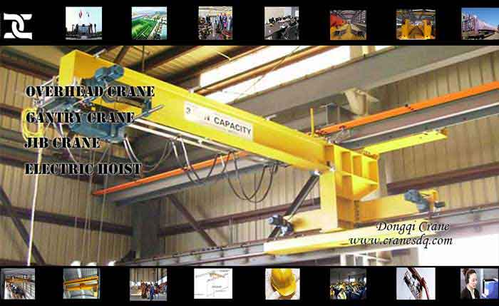 Wall travelling 80 ton crane