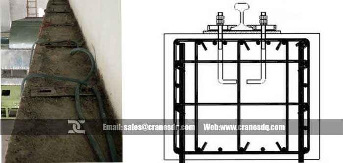 Rail Installation For Rail Crane Overhead Crane And
