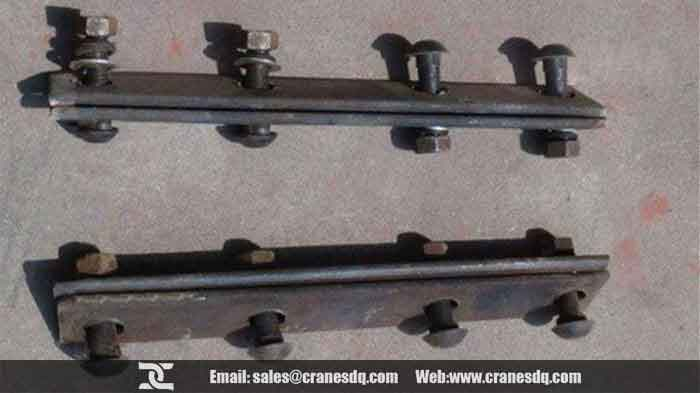 Crane rail clamp plate