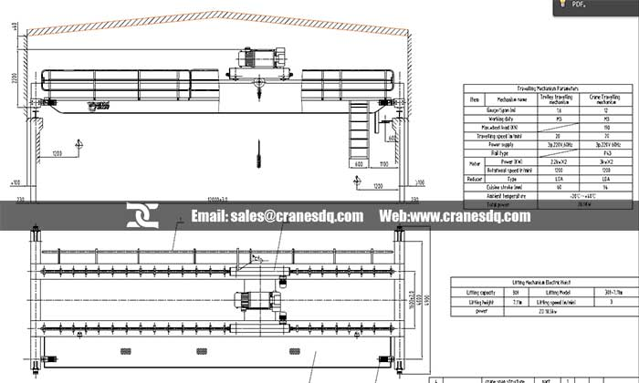 Single Girder Eot Crane Drawing : Electrical drawing of eot crane travelwork