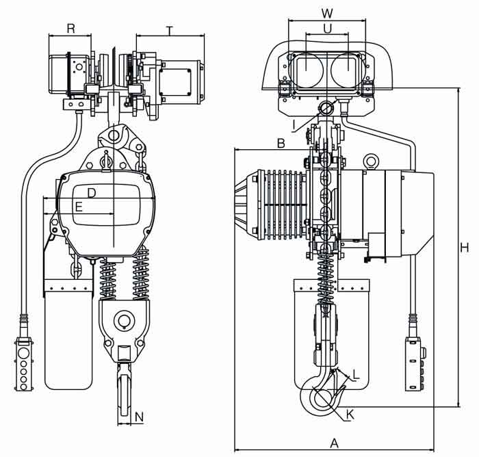 Electric hoist drawing