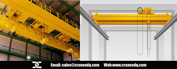 Electric travelling crane and manual travelling crane