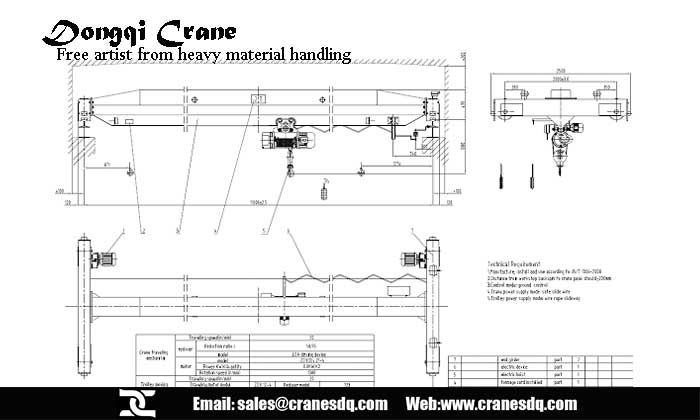 Single Girder Eot Crane Drawing : Single girder eot crane lifts arts up chinese