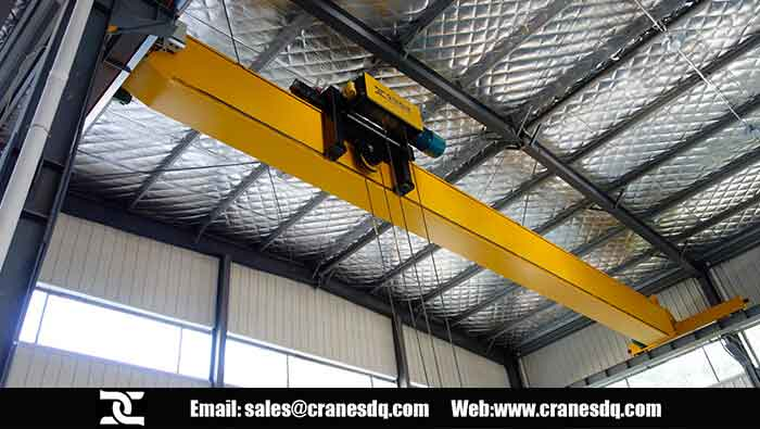 European <a href=/overhead-crane-for-sale.html target=_blank class=infotextkey>overhead crane</a> used in Dongqi European electric hoist workshop and Fem hoist factory
