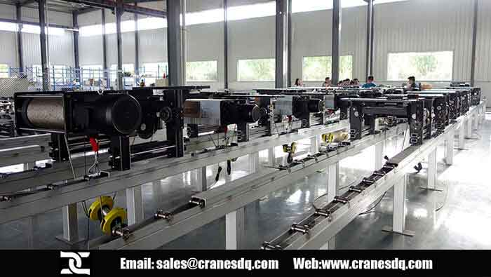 Finishend European Hoist aCrane in Dongqi European electric hoist workshop and Fem hoist factory