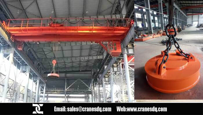 Electromagnetic floor operated crane
