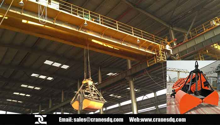 Grab crane for wastes handling