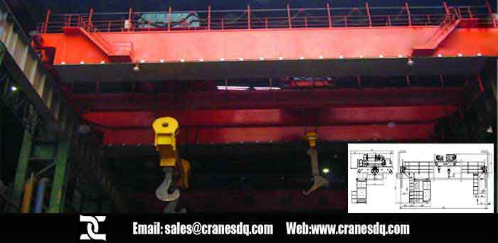Ladle floor operated crane