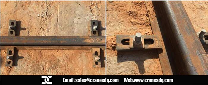 Rail inRail is fixed by the bolts,clamps and platenstallation for the 5 ton gantry crane