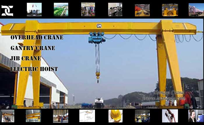 Single girder Gantry floor operated crane