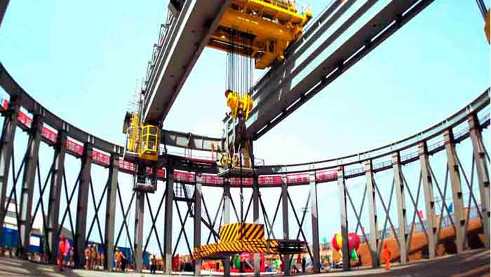 Industrial crane for power industry