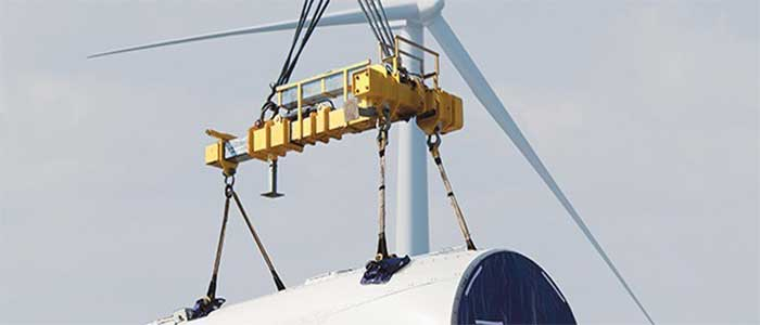 Industrial crane:lifting crane for wind energy, Crane lifting crane for safety lifting in wind energy