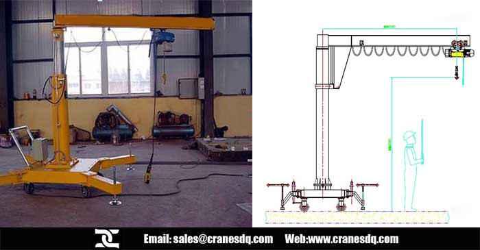 Portable Jib Crane Mobile Jib Crane Movable Jib Crane