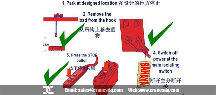Remote control crane safety: Remote control crane driver