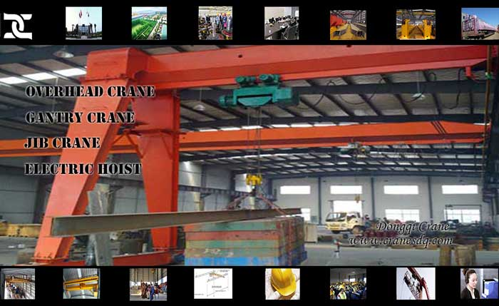 BMH Semi-Gantry floor operated crane