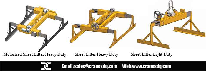 Sheet lifter plater lifter - Overhead crane attachments