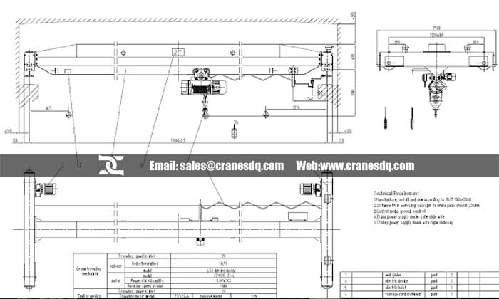 Single Girder Eot Crane Drawing : Single girder eot crane project in mongolia amazing