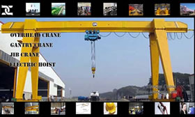 Single girder gantry crane for sale China