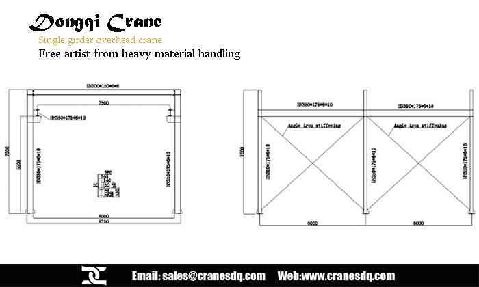Single Girder Eot Crane Drawing : Single girder eot crane lifts arts up chinese