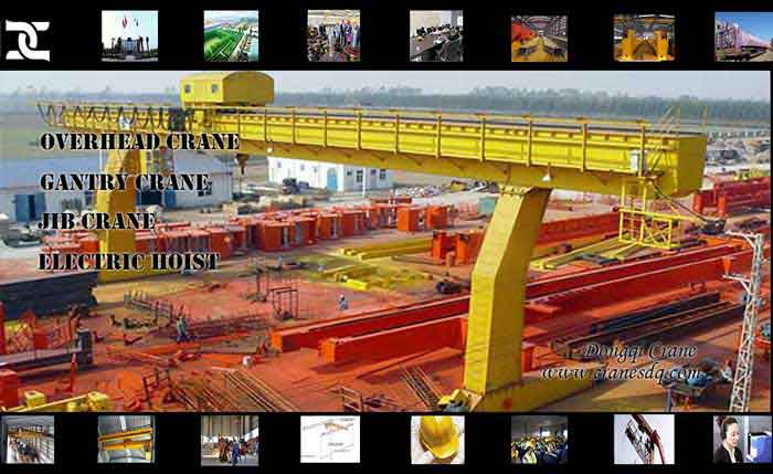 Electric trolley Gantry floor operated crane