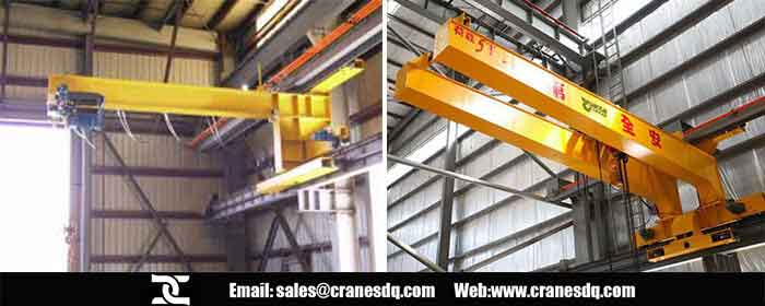 Wall travelling crane