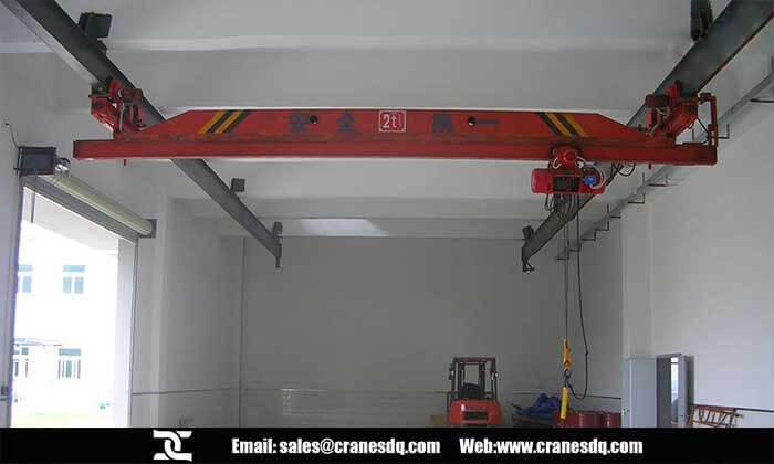 Suspension Crane On Single Girder Eot Crane Of Dqcranes