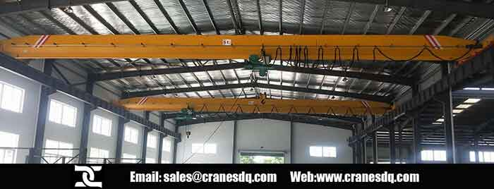 Single girder electric crane with wire rope hoist
