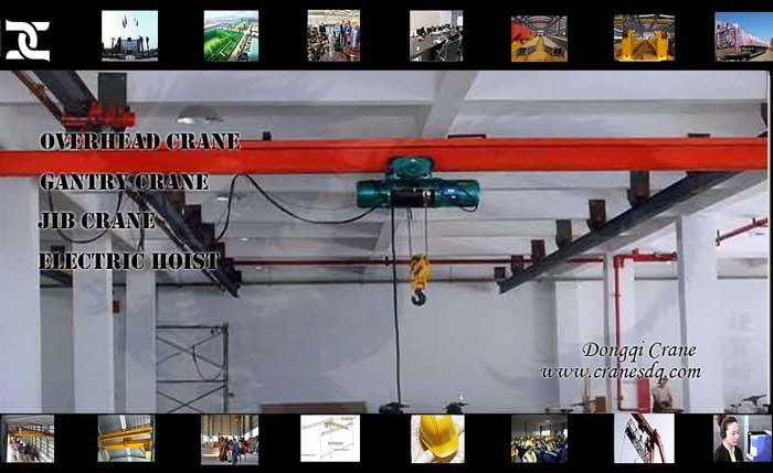 Suspension crane on single girder- EOT crane of DQCRANES