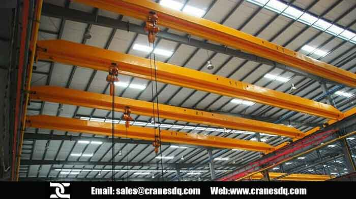 Single girder electric hoist crane with electric chain hoist project