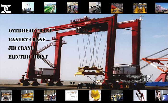 Rubber Tyred Gantry Cranes Translate : Rubber tyre container gantry crane dongqi