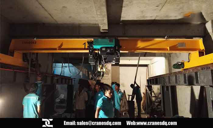 Overhead bridge crane for Maldives: 1.5 ton overhead crane installed in Maldives