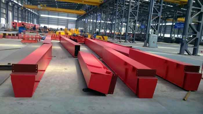Double girder overhead cranes used in plastic injection factory Serbia