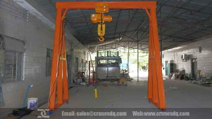 Gantry crane on wheels, portable gantry crane, Wheel mounted gantry crane