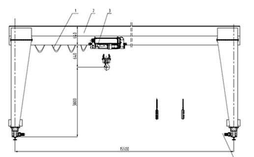 Single Girder Eot Crane Drawing : Gantry crane wins score in australia engineering business