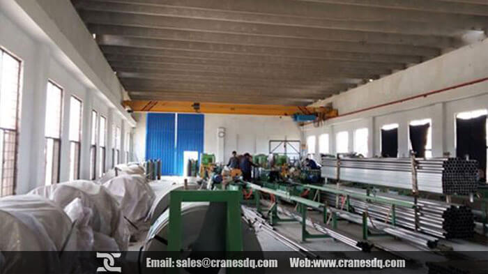 10 ton workshop overhead crane for conceret workshop of steel factory
