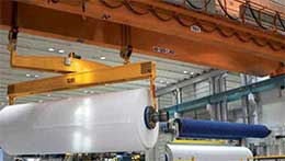 Overhead crane for paper making