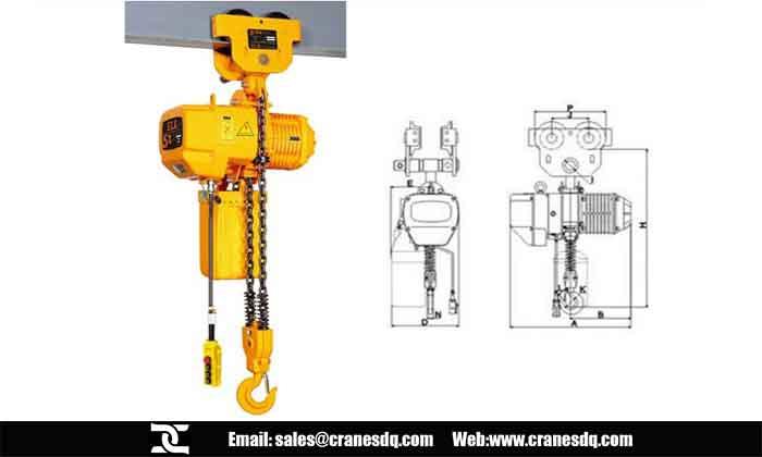 2 ton hoist for sale, Type of 2 ton hoists- Dongqi Electric