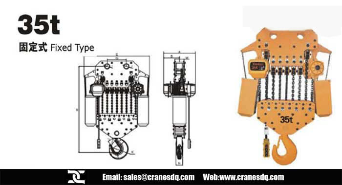 35 ton fixed type electric chain hoist