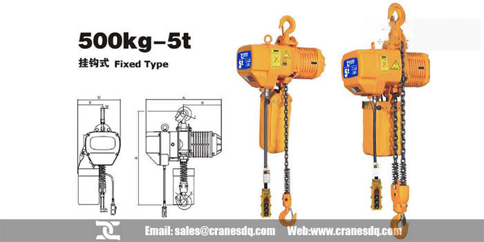 500kg- 5 ton fixed type electric chain hoist